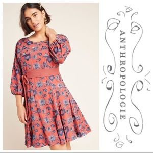 NWT Anthropologie Juniper Embroidered Swing Dress